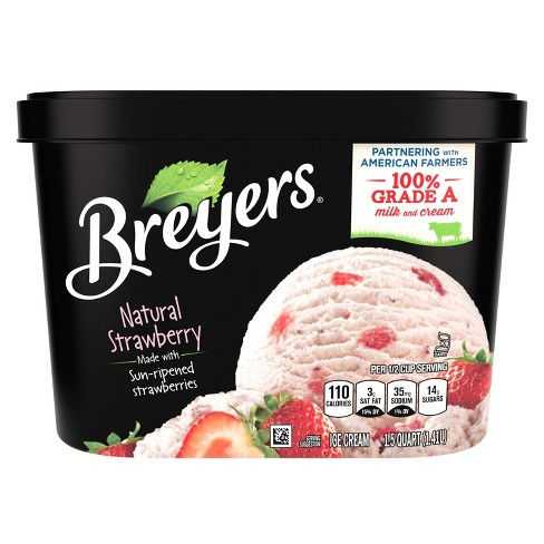 Breyers All Natural Strawberry Ice Cream - 48oz - image 1 of 4