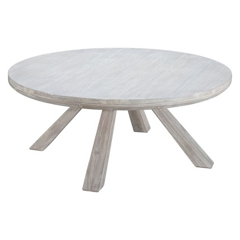 Coastal 42 Round Coffee Table Sun Drenched Acacia Zm Home Target