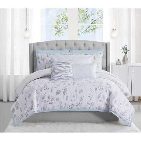 King 3pc Fairfield Comforter Set White, Target Gray Bedding Sets