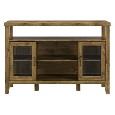 52  Wood Console High Boy Buffet Barnwood - Saracina Home