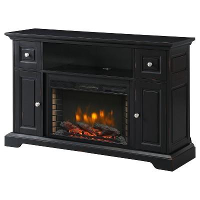 "55"" Sutherland Media Electric Fireplace Aged Black - Muskoka"