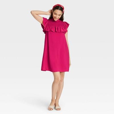 Women's Sleeveless Ruffle Yoke Dress - A New Day™
