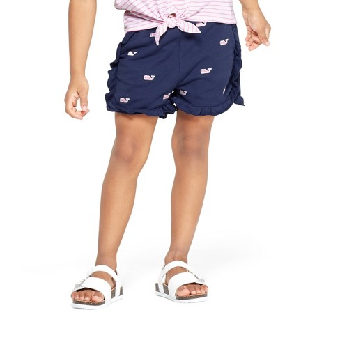 93703d9175 Toddler Girls' Embroidered Whale Shorts - Navy - vineyard vines® for Target