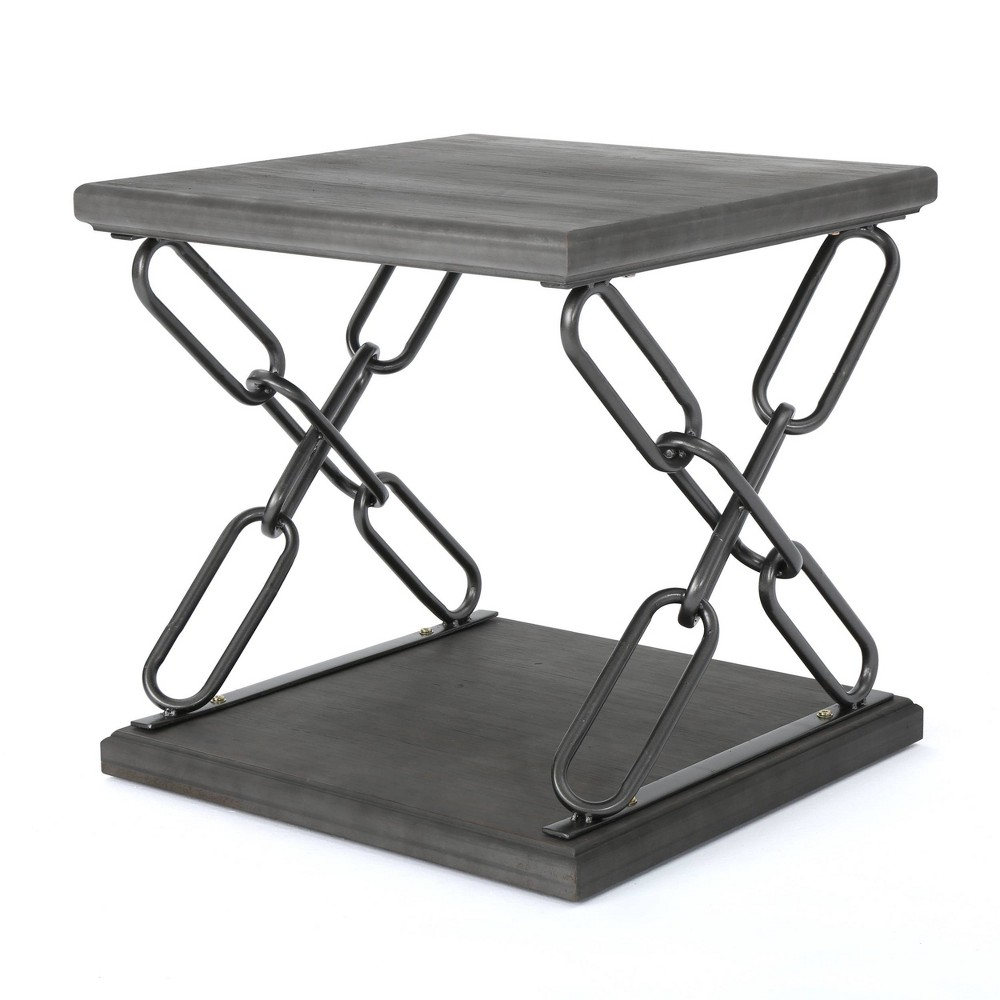 Tiomoid Industrial Side Table Gray - Christopher Knight Home