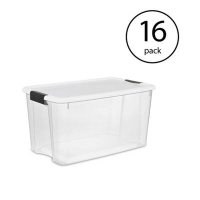 Sterilite Large 70 Qt Clear Base Ultra Latch Storage Container Box Tote