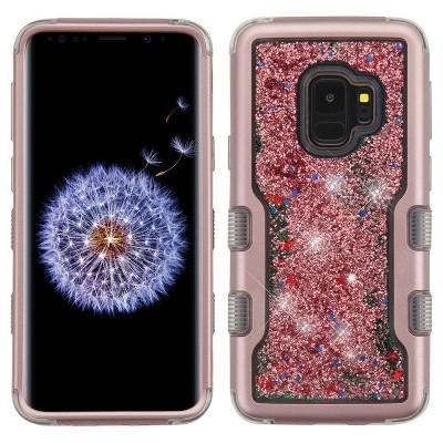 MyBat Tuff Quicksand Glitter Stars PC/TPU Rubber Case Cover For Samsung Galaxy S9 - Multi-Color
