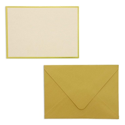 48 Pack Blank Invitation Cards and Envelopes for Wedding Birthday Graduation Baby and Bridal Shower, Gold Foil Border, 5 x 7 inches