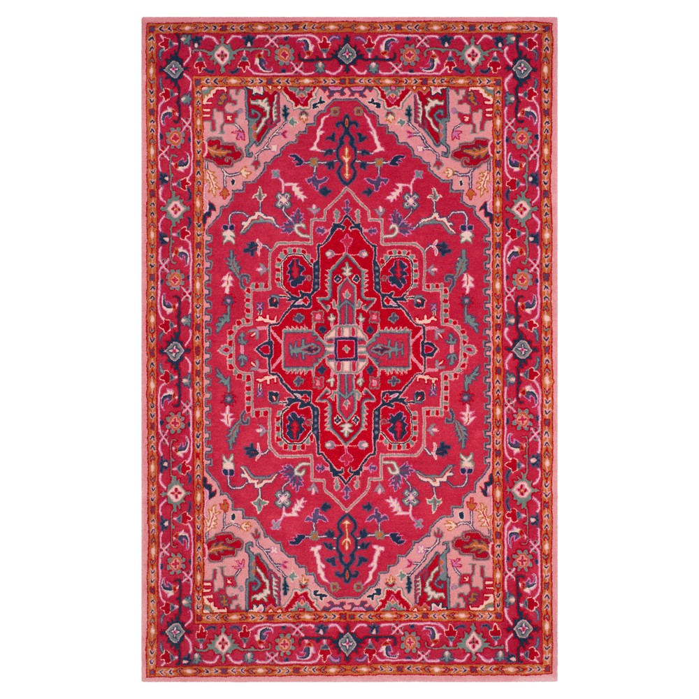 Red Brown Medallion Tufted Area Rug 5'x8' - Safavieh