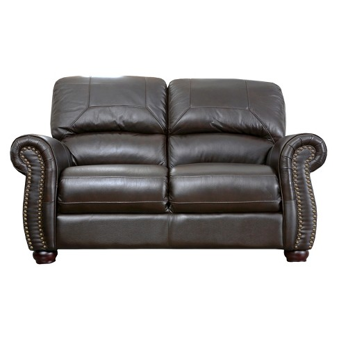 Newbury Loveseat Leather - Abbyson Living - image 1 of 3