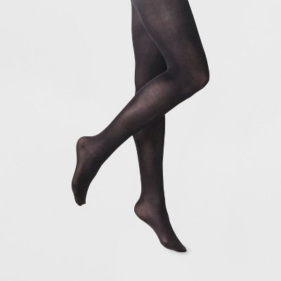 Women's 50D Opaque Control Top Tights - A New Day™ Black