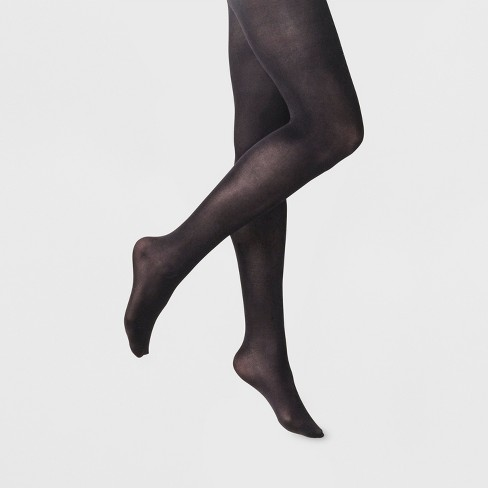 Women's 50D Opaque Control Top Tights - A New Day™ Black - image 1 of 2