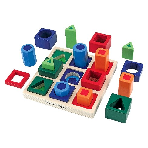 Melissa & Doug® Shape Sequence Wooden Sorting Set and Educational Toy - image 1 of 2