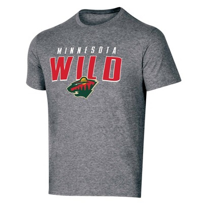NHL Minnesota Wild Men's Short Sleeve Heather T-Shirt
