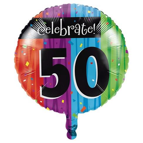Milestone Celebrations 50th Birthday Mylar Balloon Target