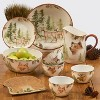 22oz 4pk Earthenware Mountain Retreat Ice Cream Bowls White - Certified International - image 2 of 2