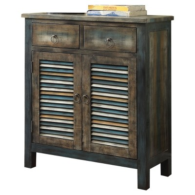 Console Table Oak Teal - Acme Furniture