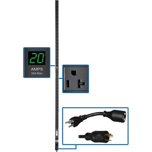 Tripp Lite PDU Metered 120V 20A 5-15/20R 36 Outlet L5-20P - 72 Inch Height Vertical Rackmount 0URM - image 1 of 4