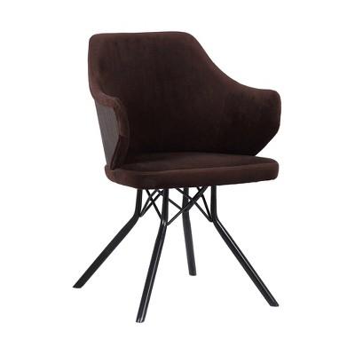 Darcie Mid Century Dining Chair Black/Brown - Armen Living