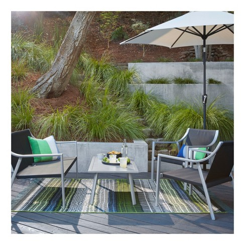 Callan 4pc Sling Patio Seating Set - Black - Project 62™ - image 1 of 10