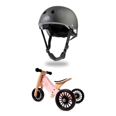 Kinderfeets Children's Riding Toy Bundle with Black Adjustable Sport Toddler/Kids Bike Helmet and Tiny Tot PLUS 2-in-1 Balance Bike and Tricycle, Rose - image 1 of 4