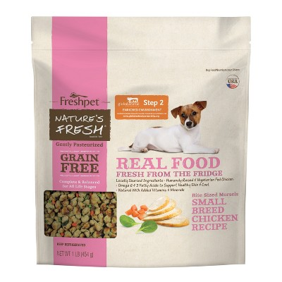 Freshpet Nature's Fresh Grain Free Small Breed Chicken Recipe Refrigerated Wet Dog Food - 1lb