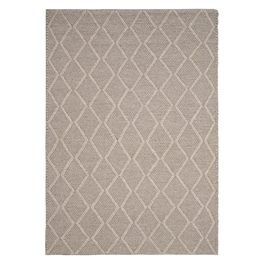 4'X6' Diamond Woven Area Rug Gray - Safavieh