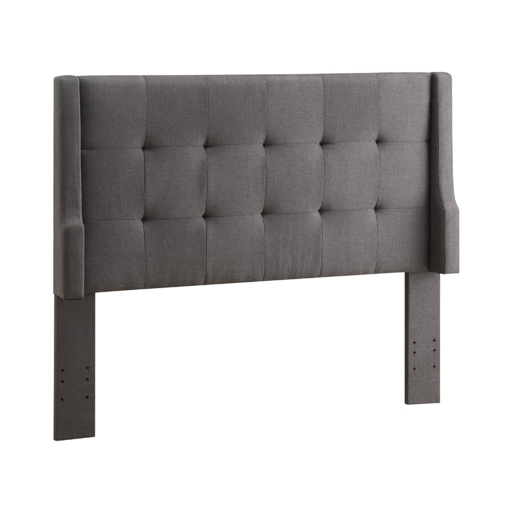 Luxury Full/Queen Size Headboard Charcoal - Linon, Charcoal Heather