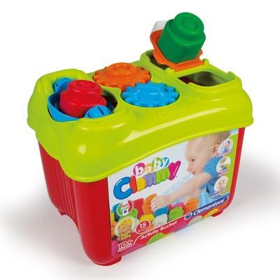 Creative Toy Company Baby Clemmy Activity Box - 15 Soft Clemmy Blocks