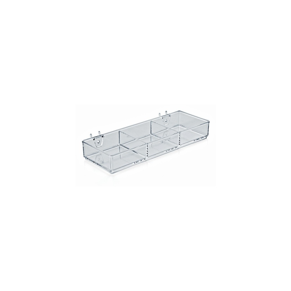 Image of Azar 3 Compartment Tray for Peg/Slat 2ct