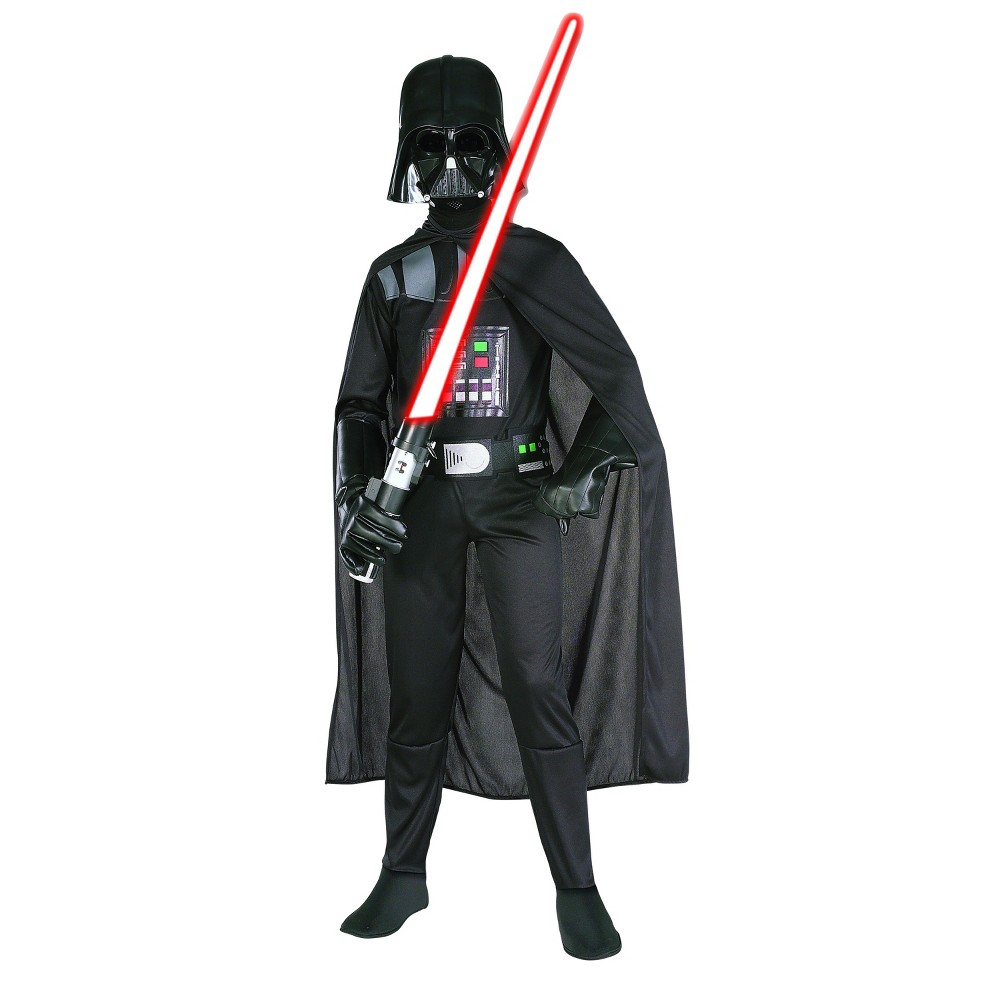 Image of Halloween Star Wars Darth Vader Boys' Costume - Medium (7-8), Boy's, Size: Medium(7-8), Clear