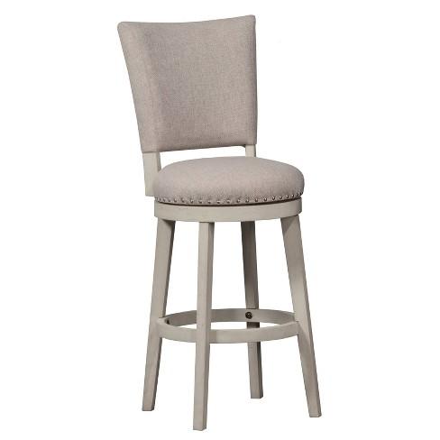 30 Elder Park Swivel Barstool White Oatmeal Hillsdale Furniture Target