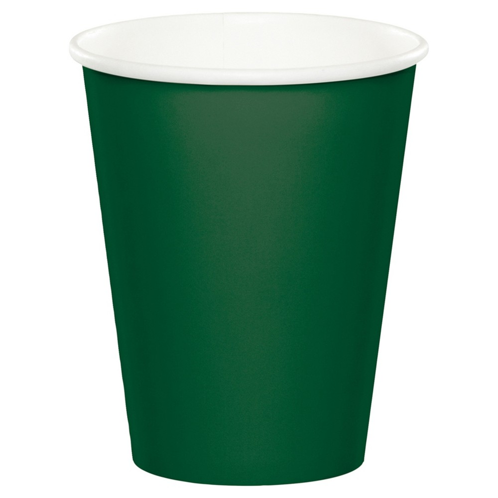 24ct Hunter Green Cups, Disposable Drinkware