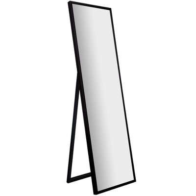 16 x57  Framed Floor Free Standing Mirror with Easel Black - Gallery Solutions