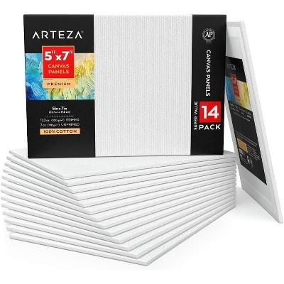 "ARTEZA Canvas Panels, Premium, 6"" x 6"", Set of 14"