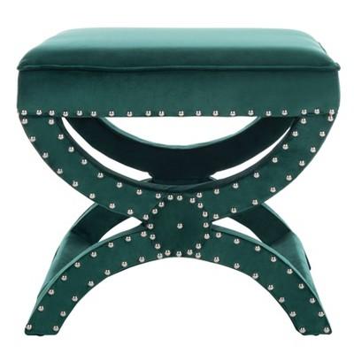 Mystic Ottoman Silver Nail Heads Emerald - Safavieh
