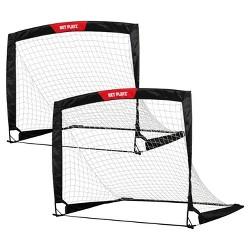 Net Playz Fold Up Soccer Goal, Set of 2