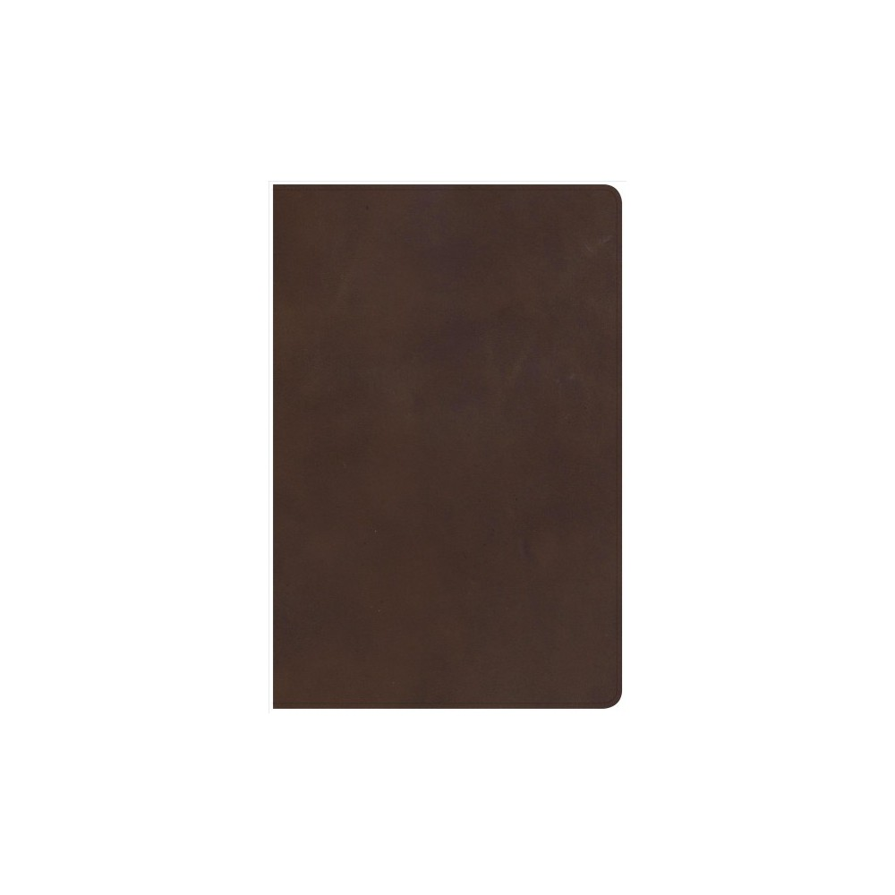 Holy Bible : New King James Version, Brown, Genuine Leather, Giant Print, Reference - (Paperback)