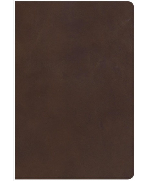 Holy Bible : New King James Version, Brown, Genuine Leather, Giant Print, Reference -  (Paperback) - image 1 of 1