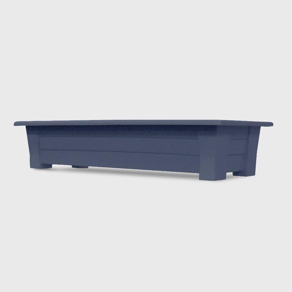 Image of 36'' Rectangular Deck Planter Bluestone - Adams Manufacturing