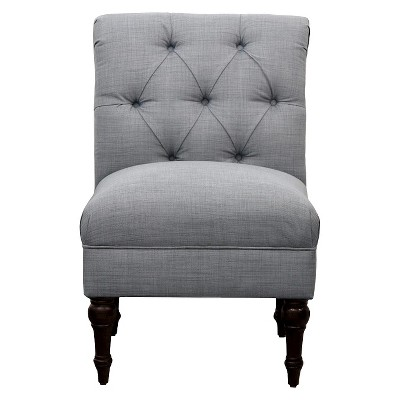 Ordinaire Tufted Rollback Slipper Chair   Gray   Threshold™ : Target