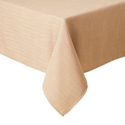 """60""""X120"""" Harper Tablecloth Beige - Town & Country Living"""