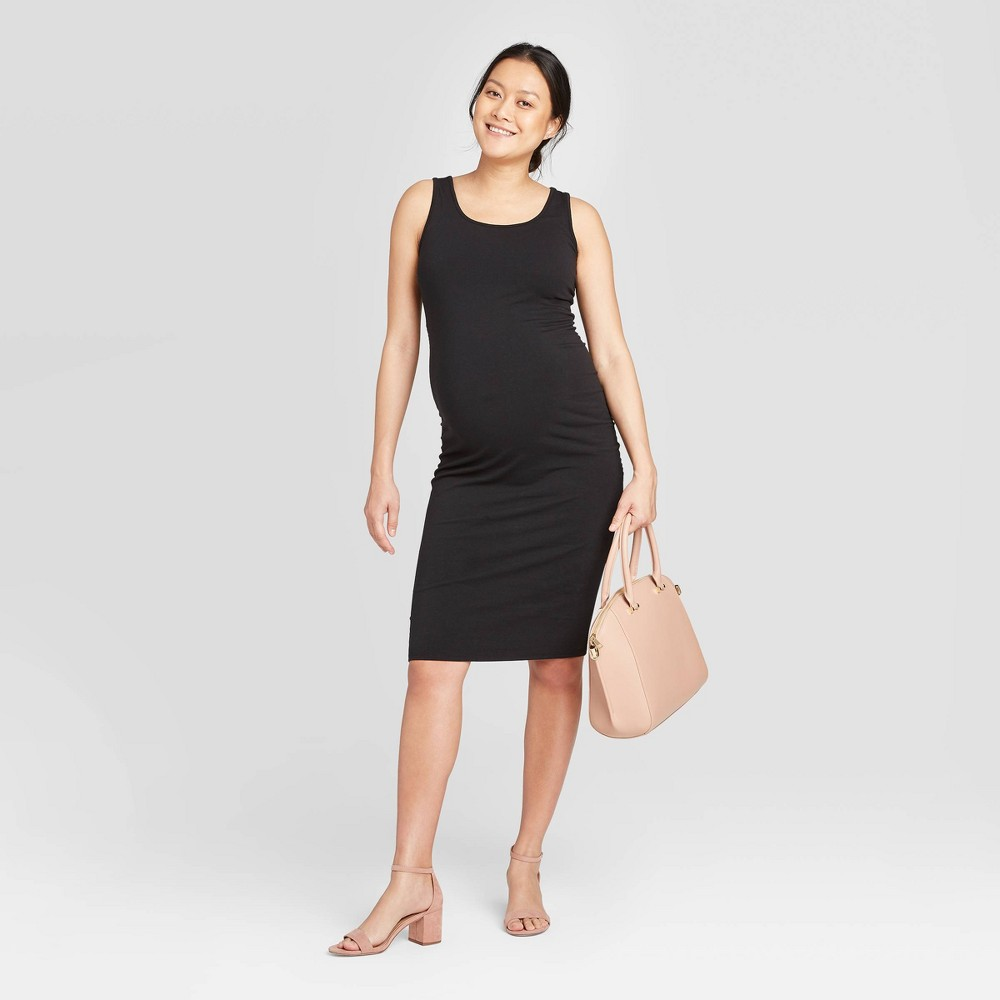 Sleeveless T-Shirt Maternity Dress - Isabel Maternity by Ingrid & Isabel Black XS was $22.99 now $10.0 (57.0% off)