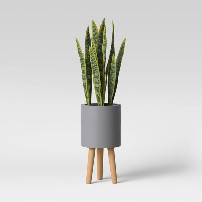 Faux Snake Floor Plant in Pot with Legs Gray/Green - Project 62™