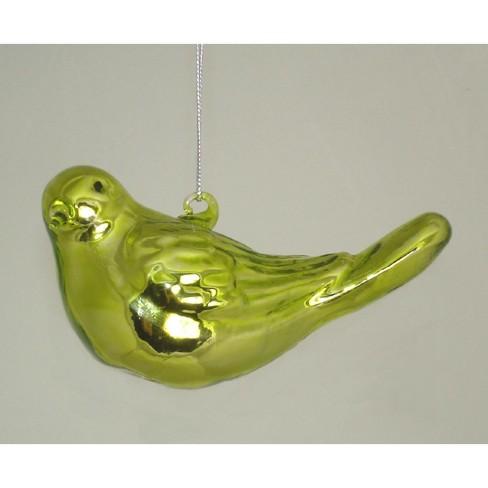 "Ganz 5"" Shiny Bird Looking Sideways Glass Christmas Ornament - Green - image 1 of 1"