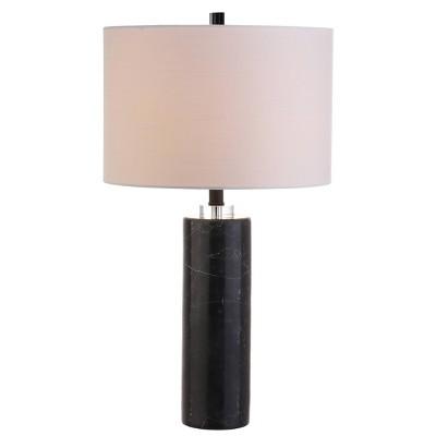 "27"" Marble/Crystal Brooks Table Lamp (Includes LED Light Bulb)Black - JONATHAN Y"