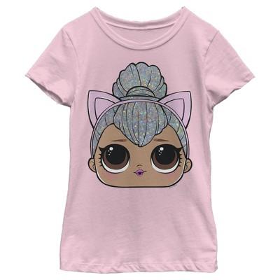 Girl's L.O.L Surprise Kitty Queen Cat Ears T-Shirt