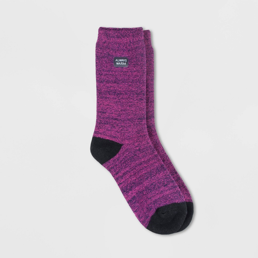 Image of Always Warm by Heat Holders Women's Twist Crew Socks - Pink 5-9, Size: Small