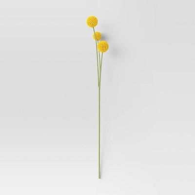 "28"" Artificial Berry Ball Stem Yellow - Threshold™"