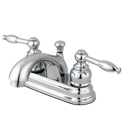 "Center Set Bathroom Faucet 4"" Chrome - Kingston Brass"