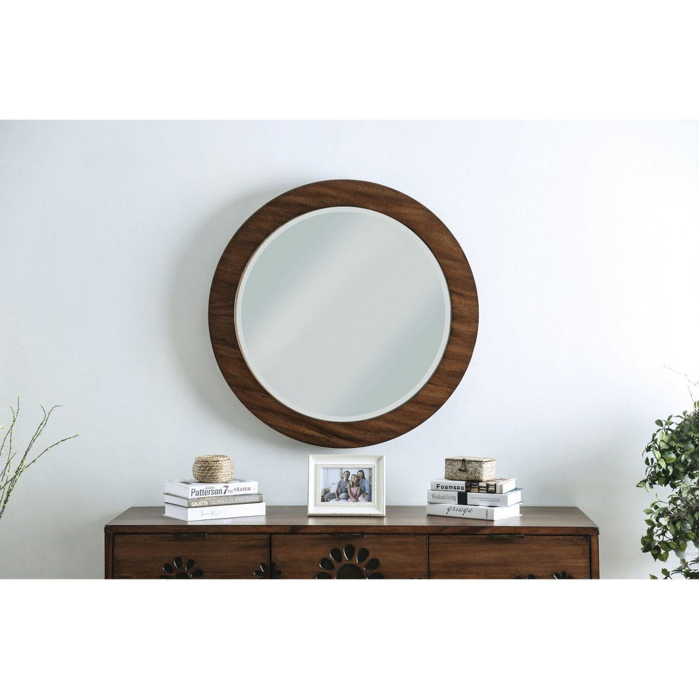 Image of Decorative Wall Mirror Oak Brown - Homes: Inside + Out